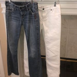 Silver jeans and j.jill jeans size 2 / 26